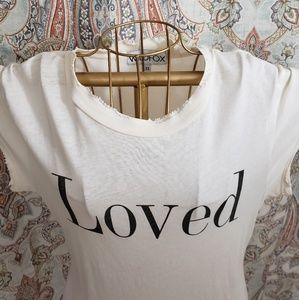 Wildfox distressed LOVED tshirt